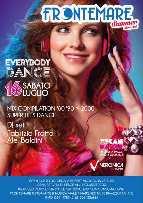 Sabato 16 luglio Everybody dance