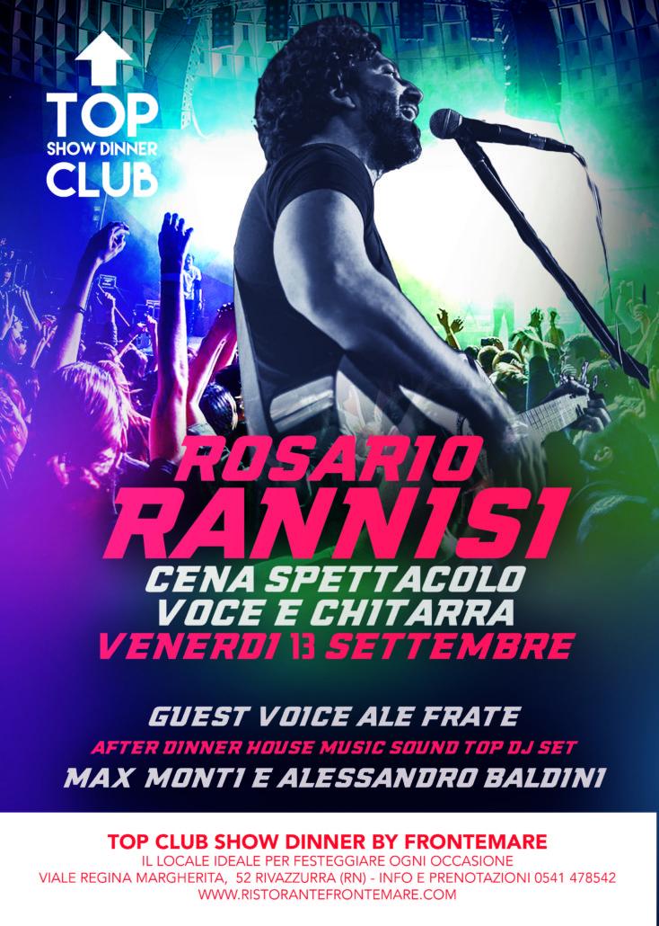 Cena spettacolo al Top club con il super ospite Rosario Rannisi
